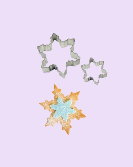 zelf koekjes maken met uitstekers sneeuwvlok frozen